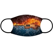 Fire And Water Violin Face Mask