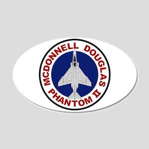 F-4 Phantom 22x14 Oval Wall Peel