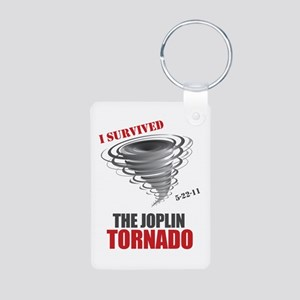 I Survived Joplin Tornado Aluminum Photo Keychain