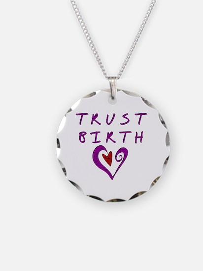 Trust Birth Necklace Circle Charm