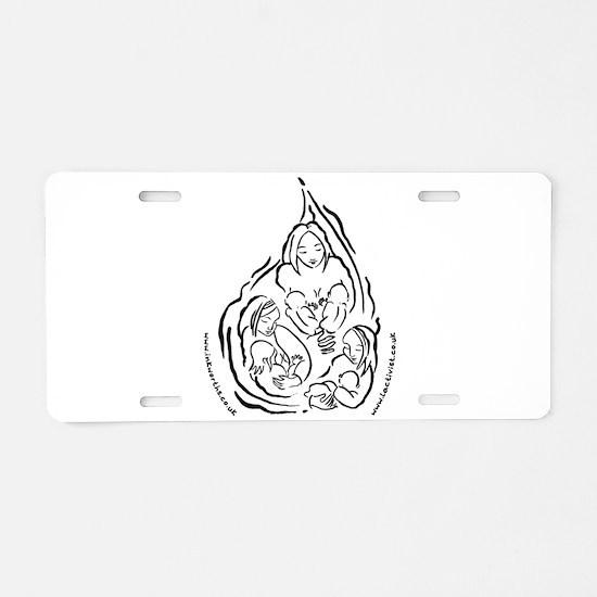 Cute Breastfeeding Aluminum License Plate