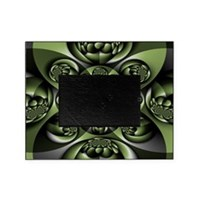 White Green Forest Mini Spheres Picture Frame