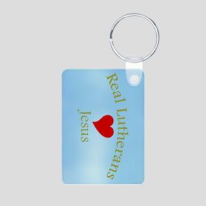 Real Lutherans Love Jesus Aluminum Photo Keychain