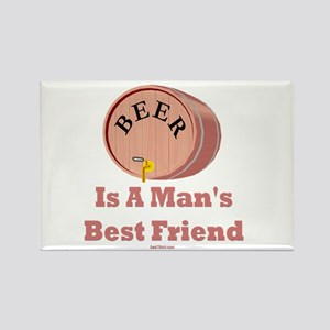 Beer Man's Best Friend Rectangle Magnet