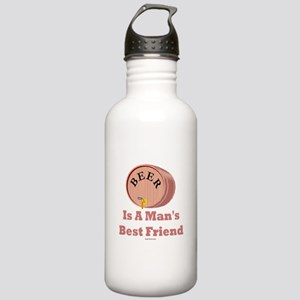 Beer Man's Best Friend Stainless Water Bottle 1.0L