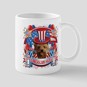American Pride Yorkie Mug