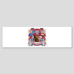 American Pride Yorkie Sticker (Bumper)