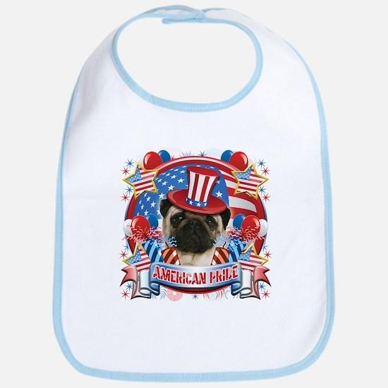 American Pride Pug Bib