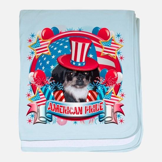 American Pride Pekingese baby blanket