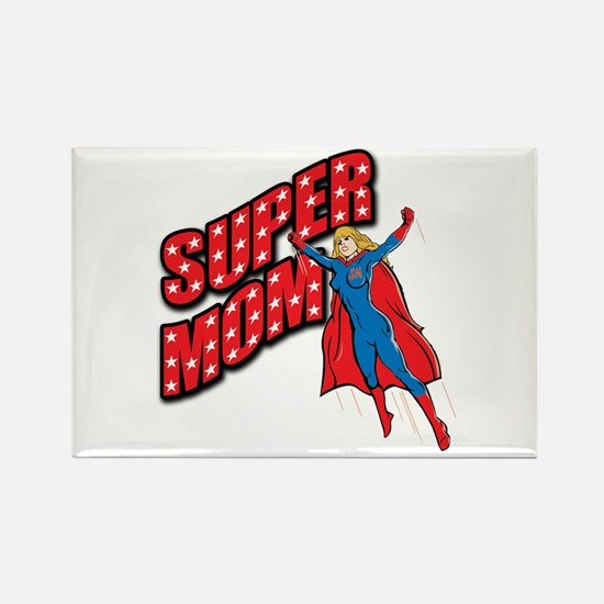 Super Mom Rectangle Magnet