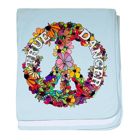True Dancer Peace Symbol baby blanket