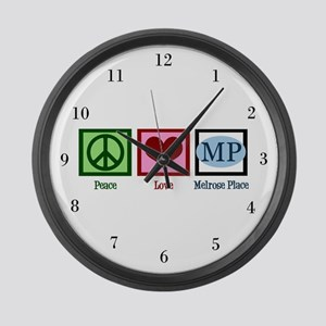 Peace Love Melrose Place Large Wall Clock