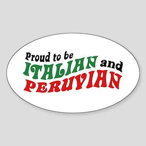 Italian and Peruvian Sticker (Oval)