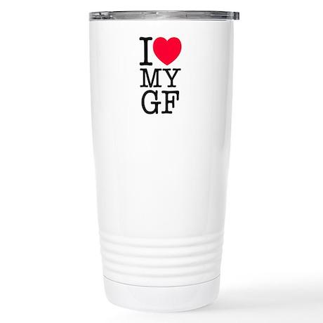 I Love My Girlfriend Stainless Steel Travel Mug