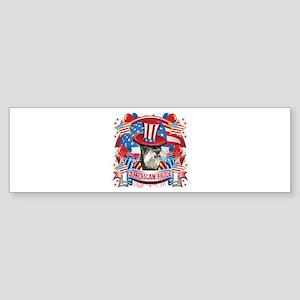 American Pride Miniature Schnauzer Sticker (Bumper