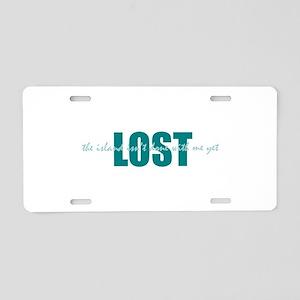 LOST Island Aluminum License Plate