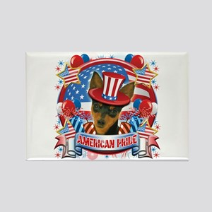 American Pride Min Pin Rectangle Magnet