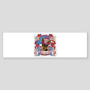 American Pride Min Pin Sticker (Bumper)