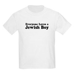 Everyone loves a Jewish Boy Kids T-Shirt