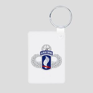 173rd Airborne Master Aluminum Photo Keychain