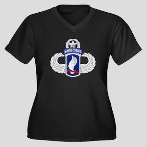 173rd Airborne Master Women's Plus Size V-Neck Dar