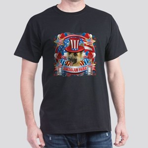 American Pride German Shepherd Dark T-Shirt