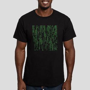 Viking Runes Matrix Men's Fitted T-Shirt (dark)