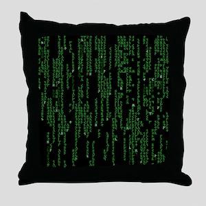 Viking Runes Matrix Throw Pillow