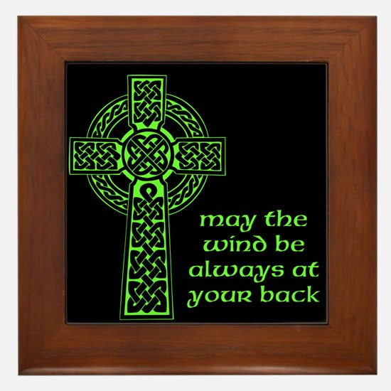 Celtic Blessing Framed Tile