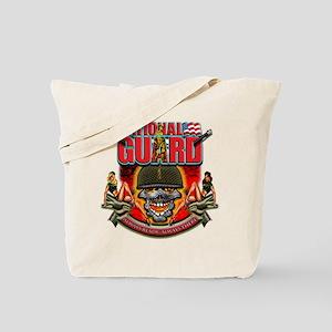 US Army National Guard Skull Tote Bag