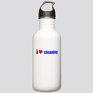 I Love Cleaning Stainless Water Bottle 1.0L