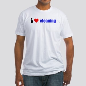 I Love Cleaning Fitted T-Shirt