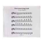 B Major Scale Throw Blanket