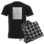 B Major Scale Men's Dark Pajamas