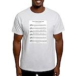B Major Scale Light T-Shirt