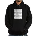 B Major Scale Hoodie (dark)