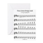 B Major Scale Greeting Card
