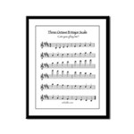 B Major Scale Framed Panel Print