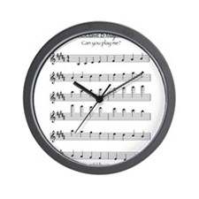 B Major Scale Wall Clock