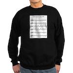 B Major Scale Sweatshirt (dark)