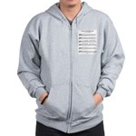 B Major Scale Zip Hoodie
