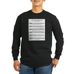 B Major Scale Long Sleeve Dark T-Shirt
