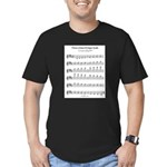 B Major Scale Men's Fitted T-Shirt (dark)
