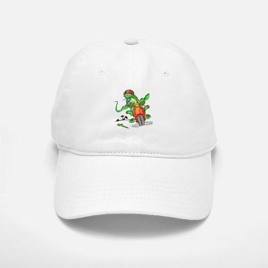 Biker Lizard Baseball Baseball Cap