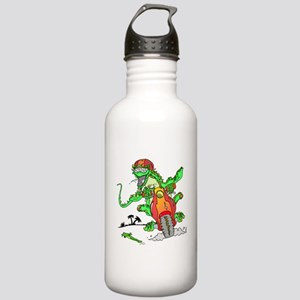 Biker Lizard Stainless Water Bottle 1.0L