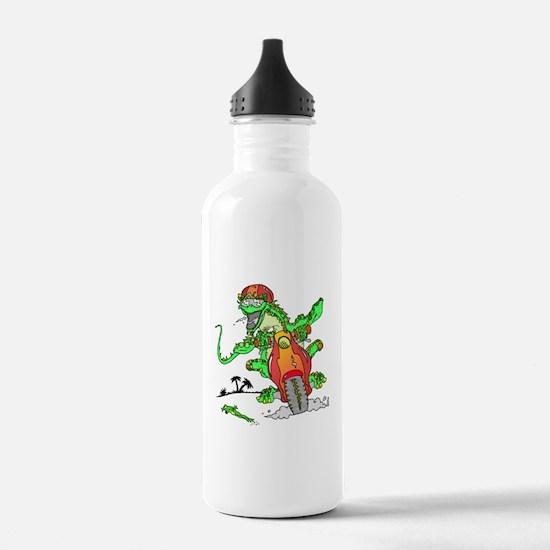 Biker Lizard Water Bottle