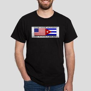 USA - Cuba Unite!! Black T-Shirt