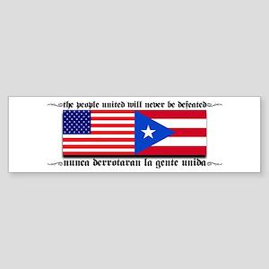USA - Puerto Rico unite! Bumper Sticker