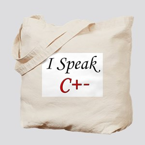 """I Speak C+-"" Tote Bag"