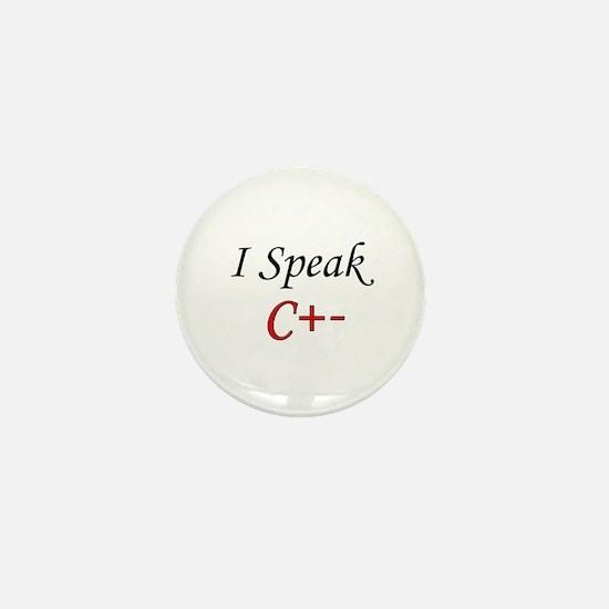 """""""I Speak C+-"""" Mini Button"""